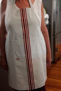 Beige with Red Stripes Apron