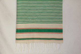 Narrow Green Stripes Fouta