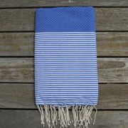 Cannes Deep Blue with White Stripes
