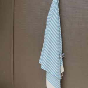 Aqua Blue Striped Noosa Beach Towel
