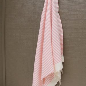 Light Pink Striped Noosa Beach Towel