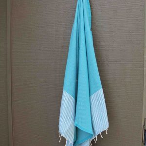 Teal beach towel