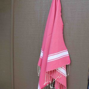 Fuchsia beach towel