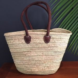 Handwoven Basket with long handles