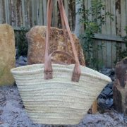 Large Market Basket with Double Strap Handles