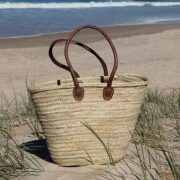 Medium Classic Basket with Long Leather Handles