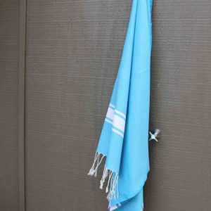 Lagoon blue beach towel