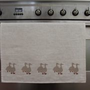 Screen Printed Linen Tea Towels