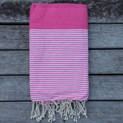 Cannes Candy Pink with White Stripes