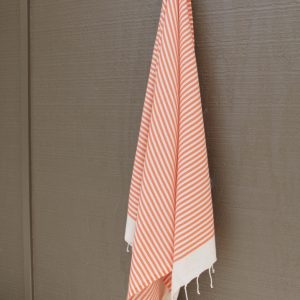 Tangerine Striped Noosa Beach Towel