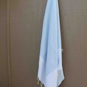 Light blue beach towel