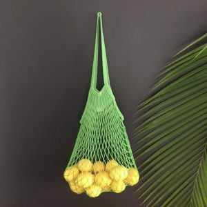 String bag with lemons