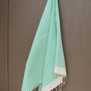 Green Striped Noosa Beach Towel