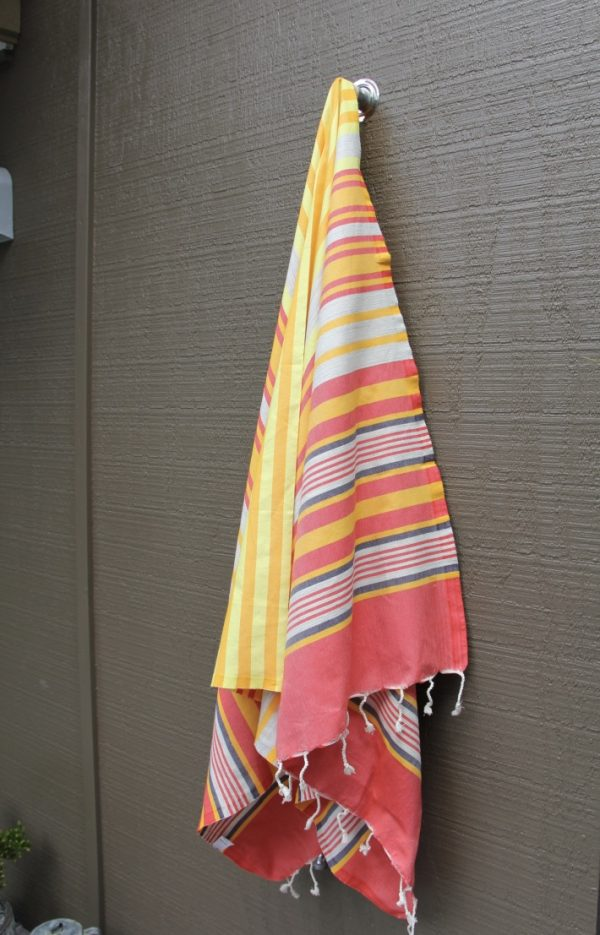 Red, Yellow & Charcoal Noosa Beach Towel