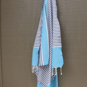 Aqua and Grey Noosa Beach Towel