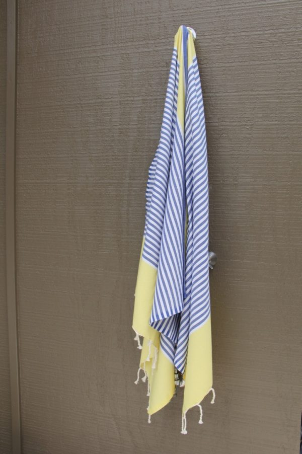Yellow and Blue Noosa Beach Towel