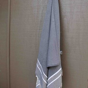 Dark grey beach towel