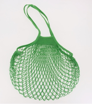 Large String Bag with Long Handles - Green