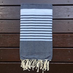Charcoal coloured towel
