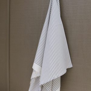 Light Grey Striped Noosa Beach Towel