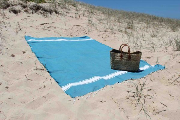 Beach towel at the beach