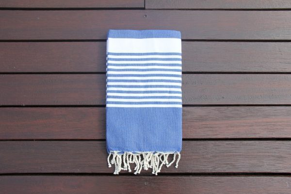 Cobalt blue towel