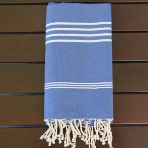 Royal blue towel