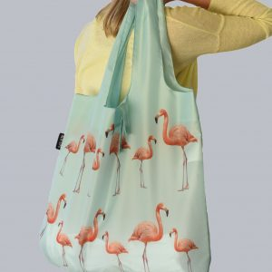Alvi Life Reusable Bag with Pink Flamingos