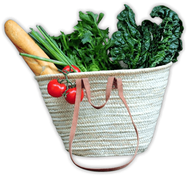 Basket full of fresh vegetable