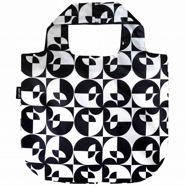 Black and White Reusable Bag