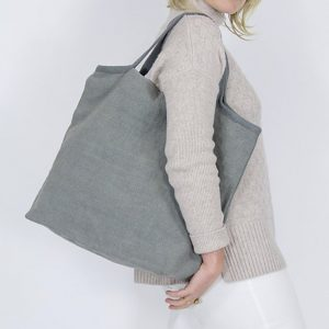 Dove grey shopping bag