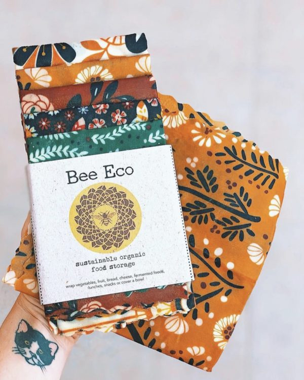 Pack of 5 Bee Eco Food Wraps